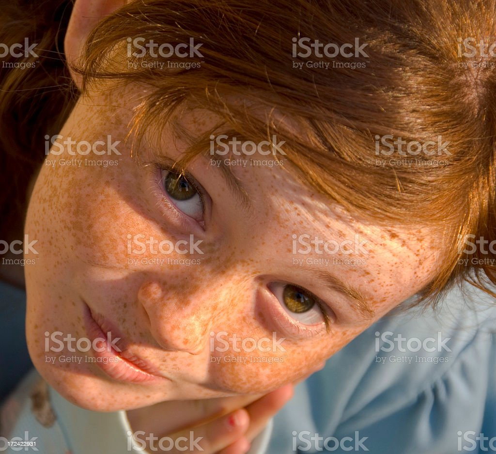 Cute Girl Asking...Pretty Please? stock photo