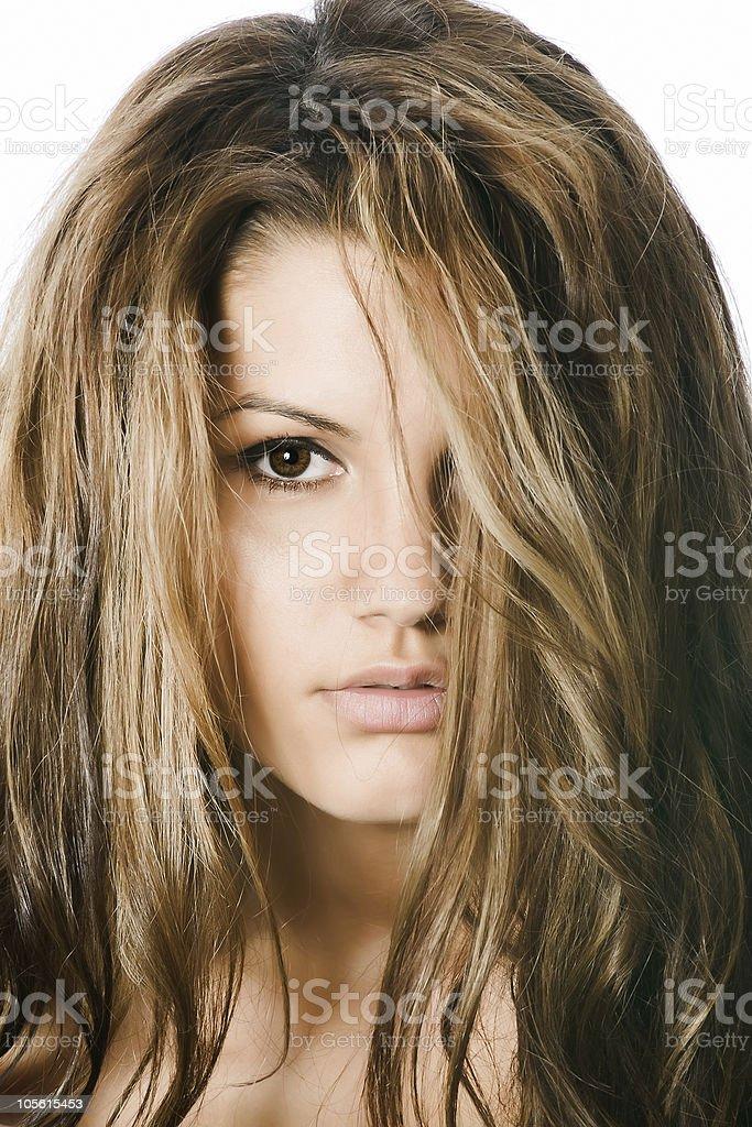 Cute girl - closeup portrait royalty-free stock photo