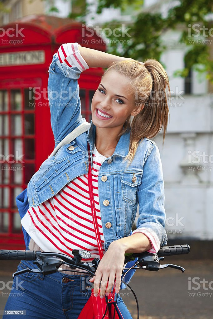 Cute Girl in London royalty-free stock photo