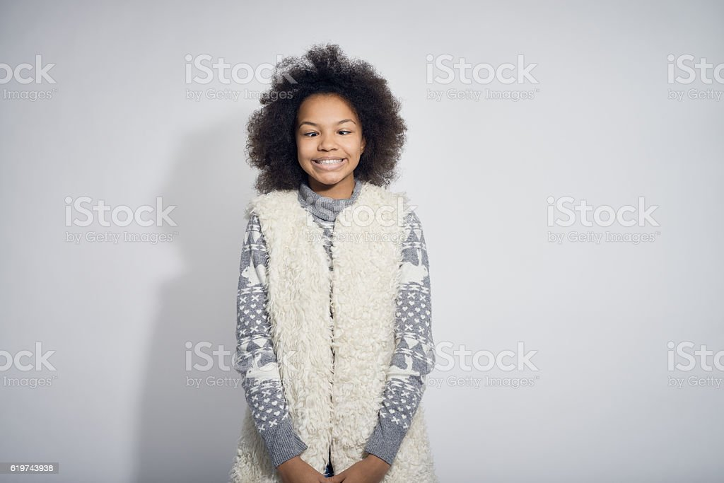 Cute Girl Making a Face stock photo