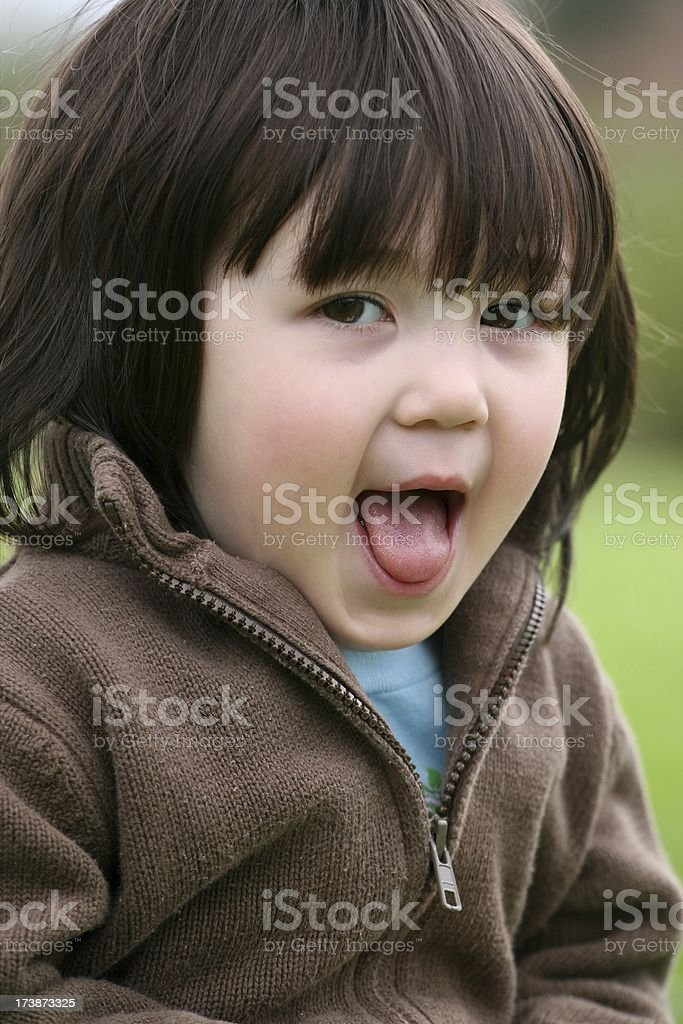 Cute Girl Making Face royalty-free stock photo