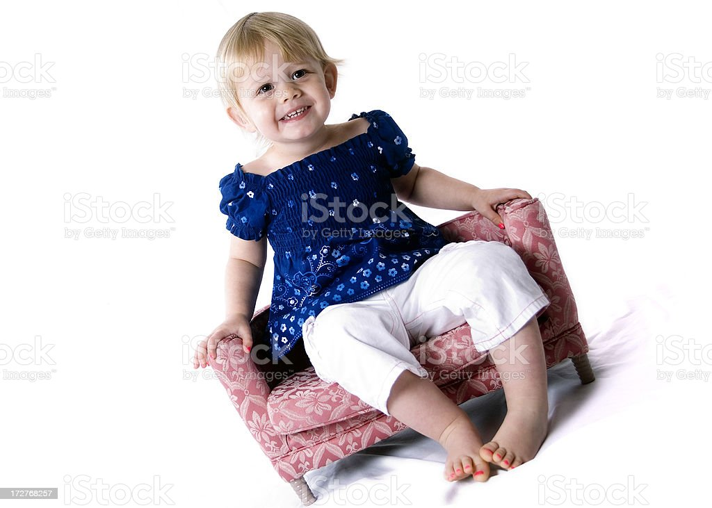 Cute Girl on Couch series royalty-free stock photo