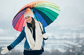 Cute girl on winter day