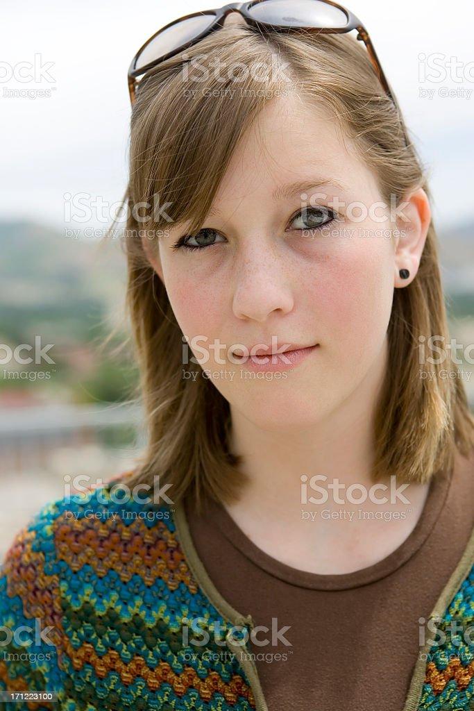 Cute Girl Portrait royalty-free stock photo