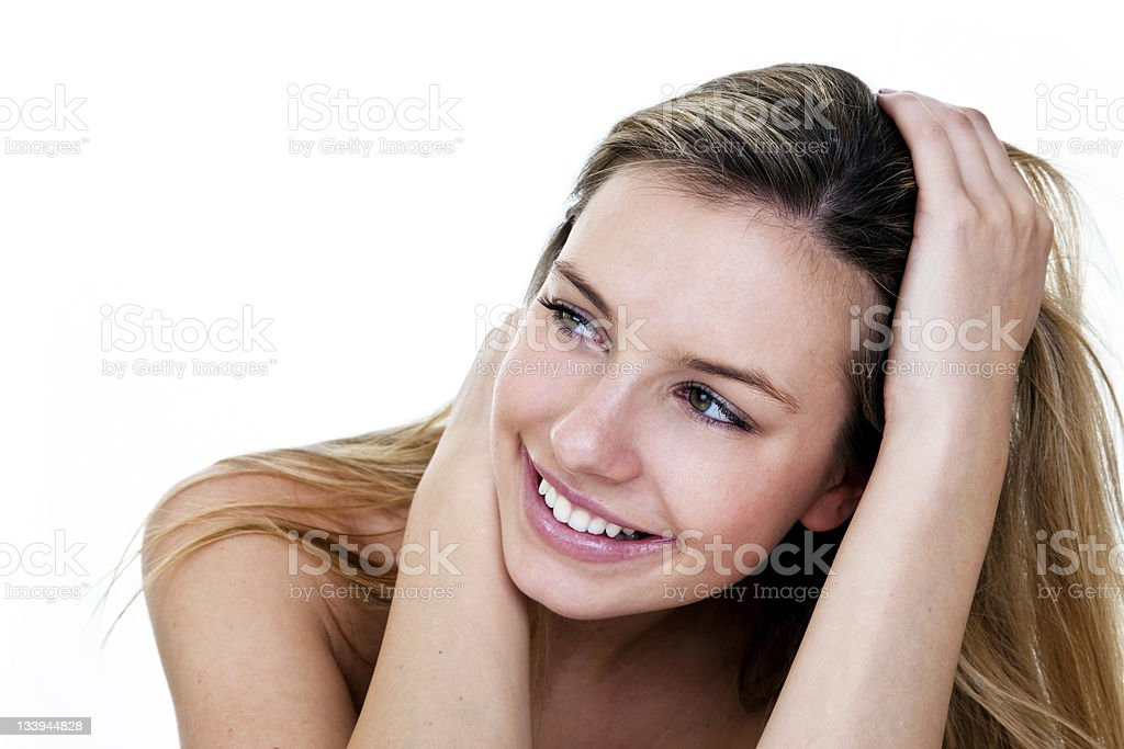 Cute girl with big smile royalty-free stock photo