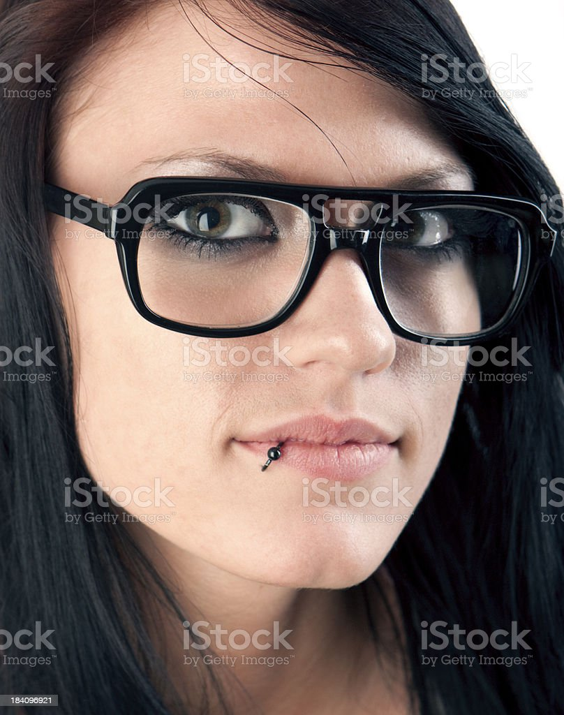 Cute Girl with Glasses royalty-free stock photo