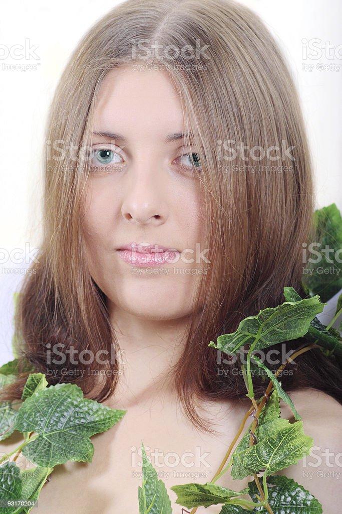 Ładny Dziewczyna z liana zbiór zdjęć royalty-free