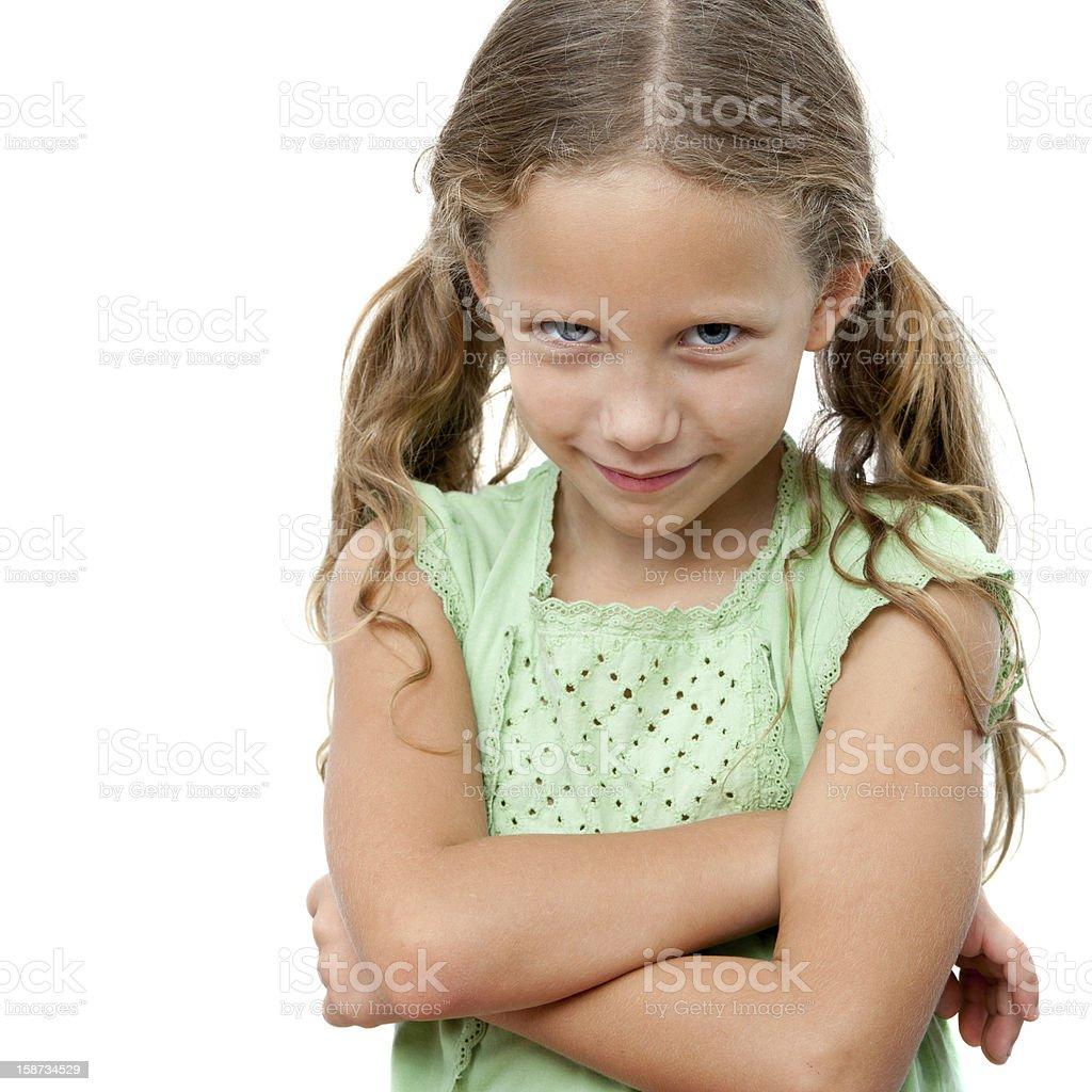 Jolie fille avec l'expression du visage coquin. photo libre de droits