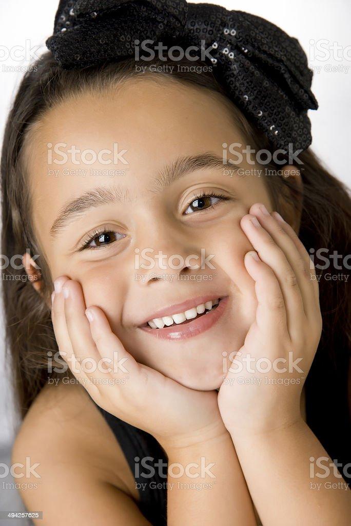 Linda chica feliz foto de stock libre de derechos