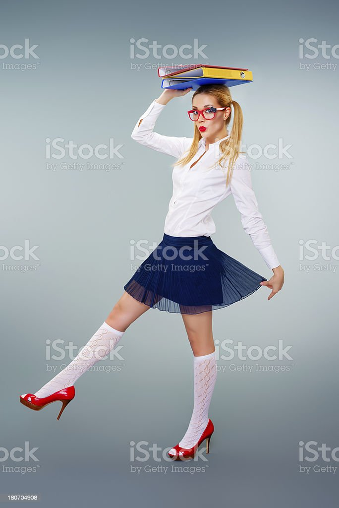 Cute highschool girl royalty-free stock photo
