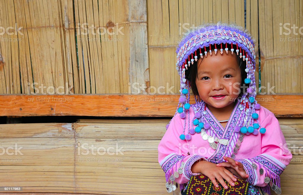 Cute Hmong girl stock photo