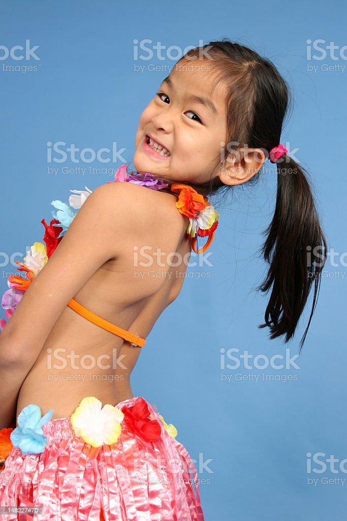 Cute Hula Dancer stock photo