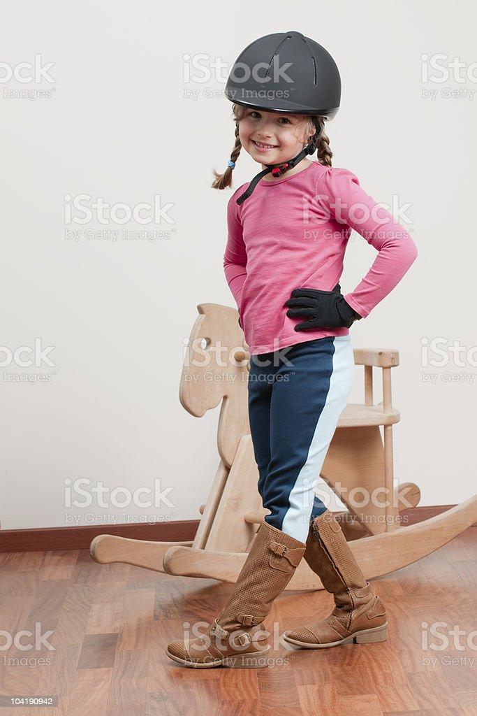 Cute jockey royalty-free stock photo