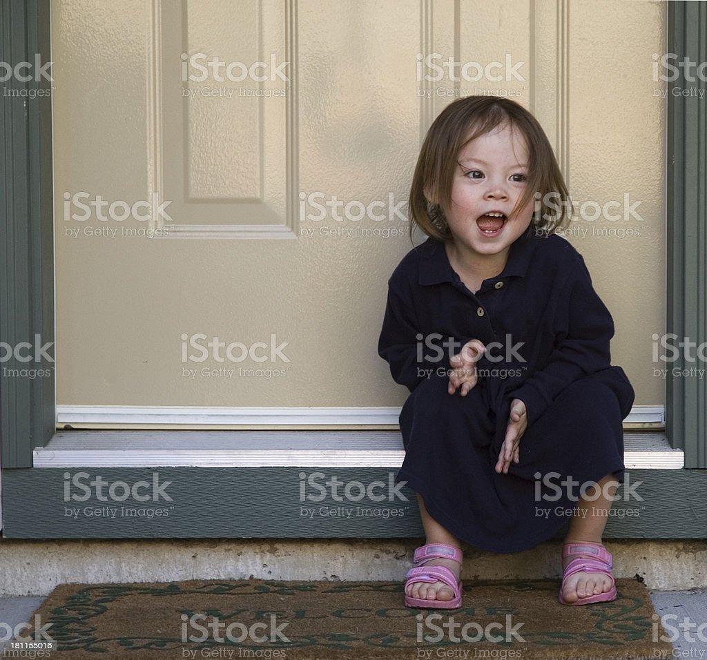 Cute Kid - Clap Happy royalty-free stock photo