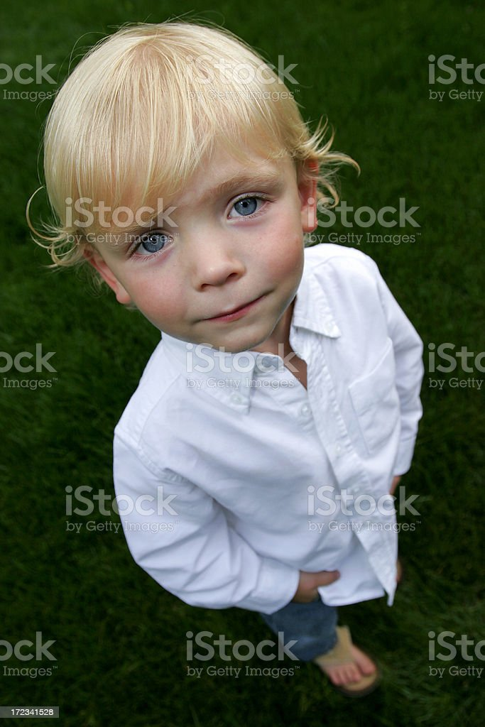 cute kid standing royalty-free stock photo