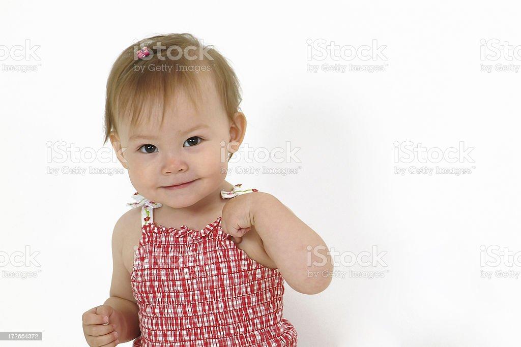 Cute Kid - Walking royalty-free stock photo