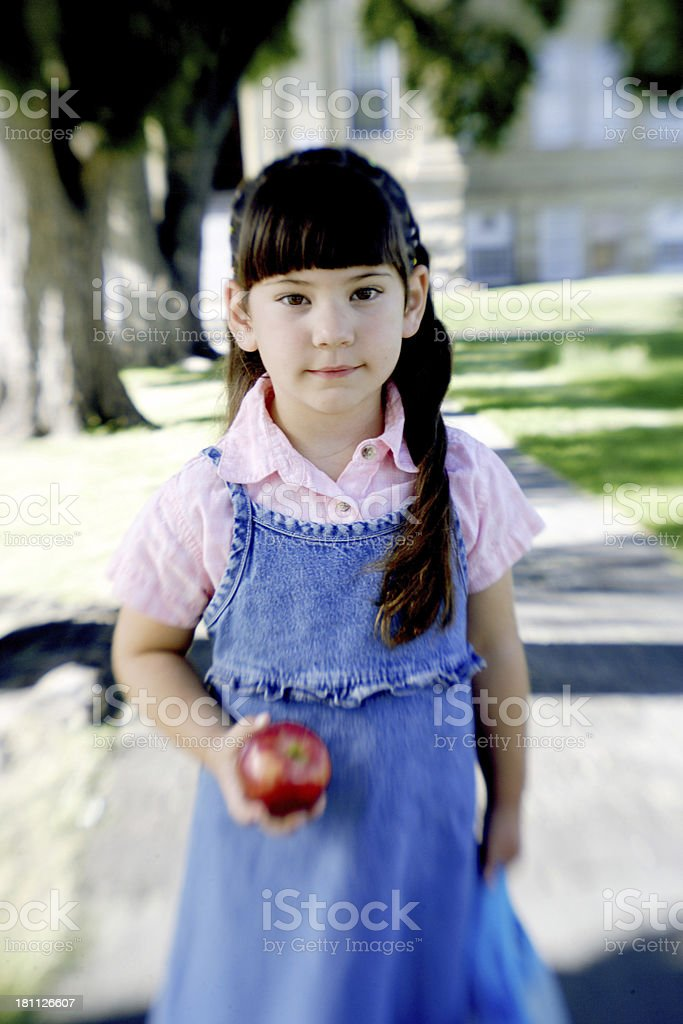 Cute kid with motion blur stock photo
