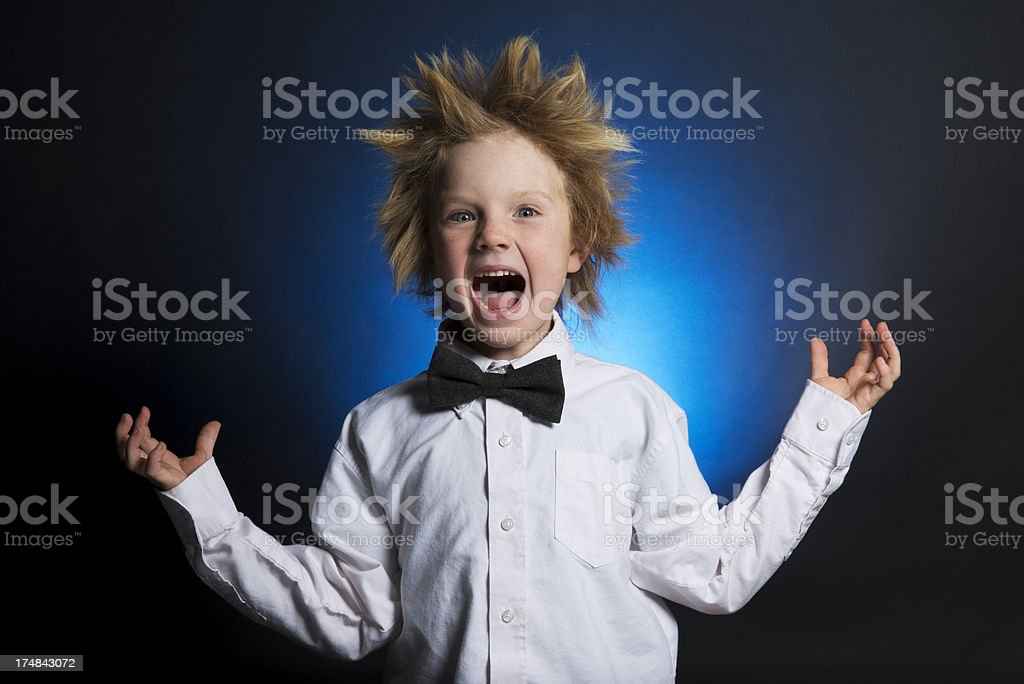 Cute Kid with Wild hair royalty-free stock photo