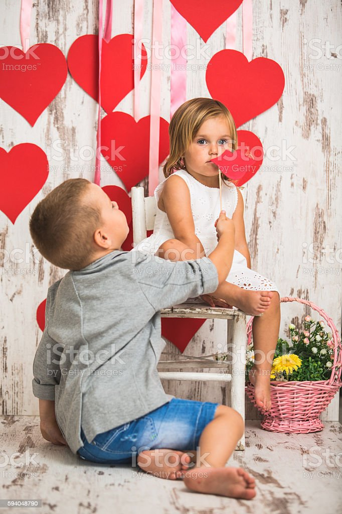 Cute kids stock photo