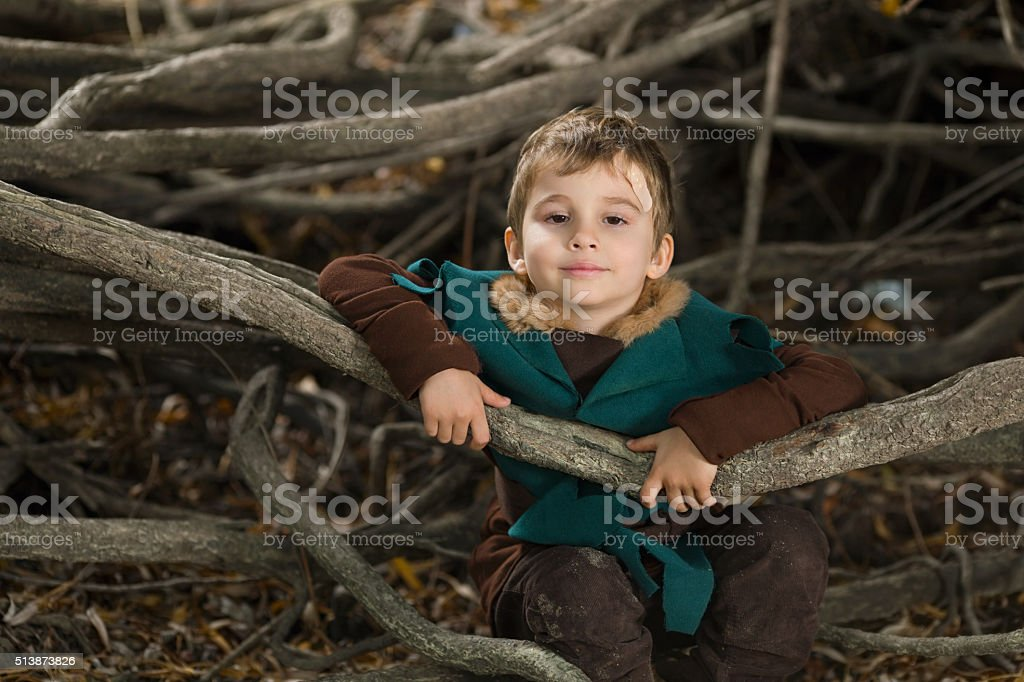 Cute Knight stock photo