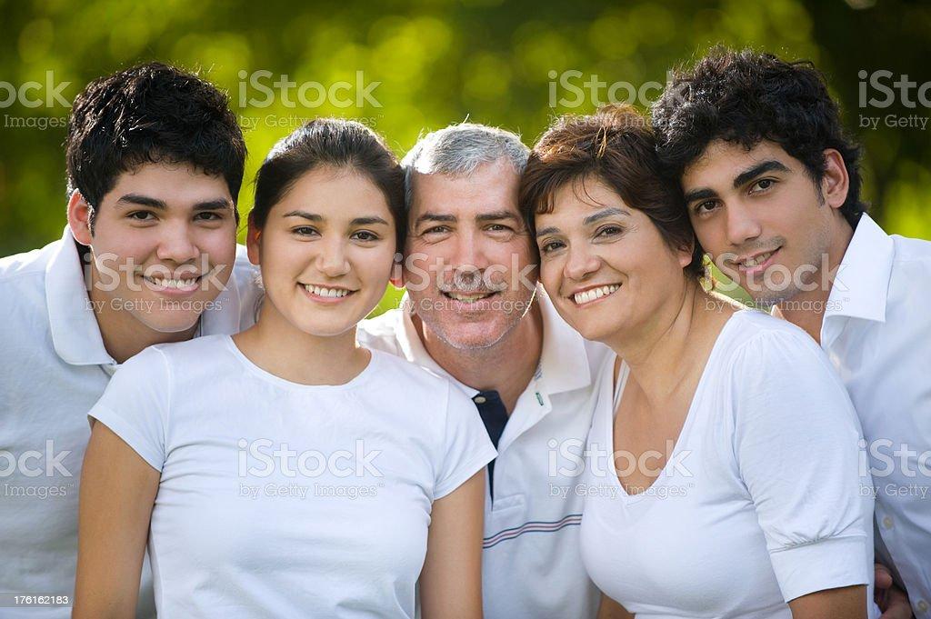 Cute latin family royalty-free stock photo