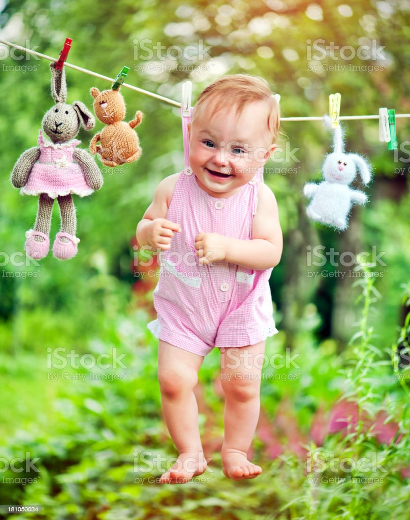 Cute laundry royalty-free stock photo
