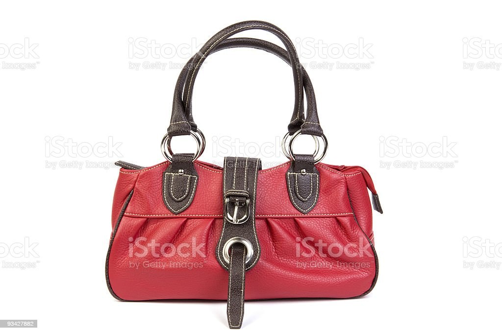 cute leather bag royalty-free stock photo
