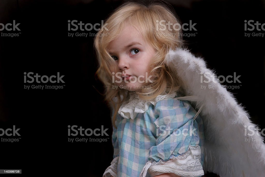 cute litlle angel royalty-free stock photo