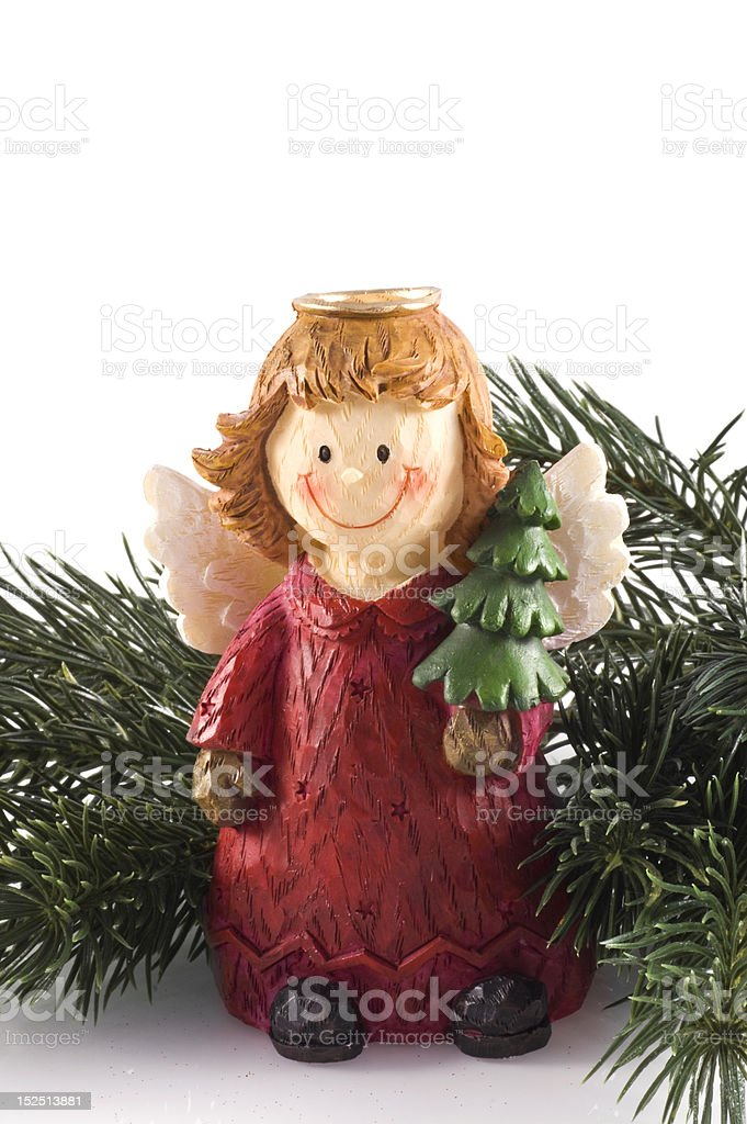 Cute little angel. stock photo
