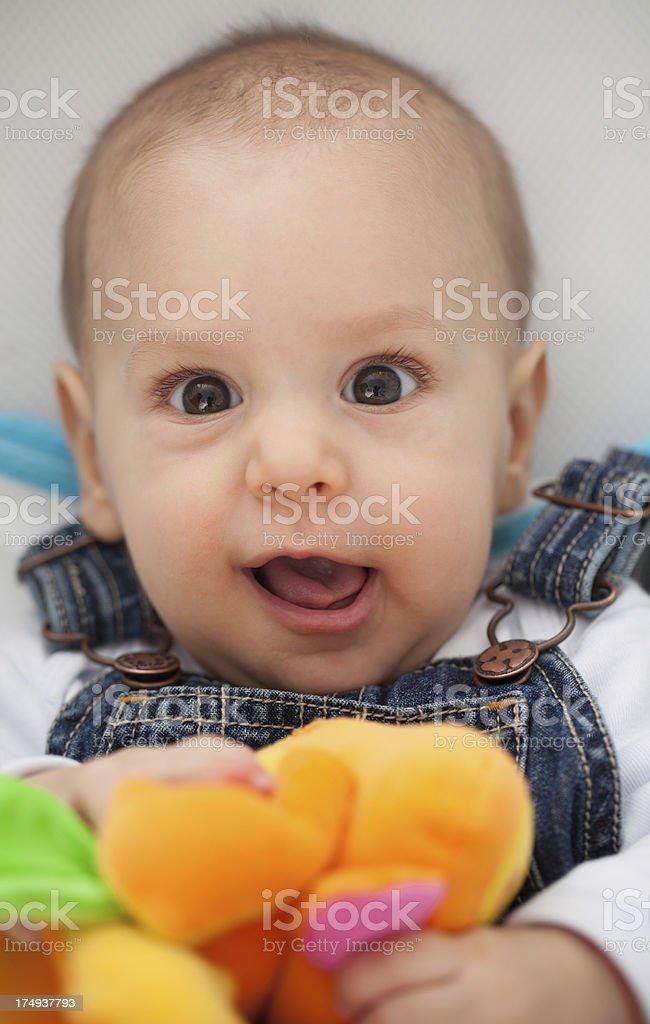 Cute Little Baby Boy royalty-free stock photo
