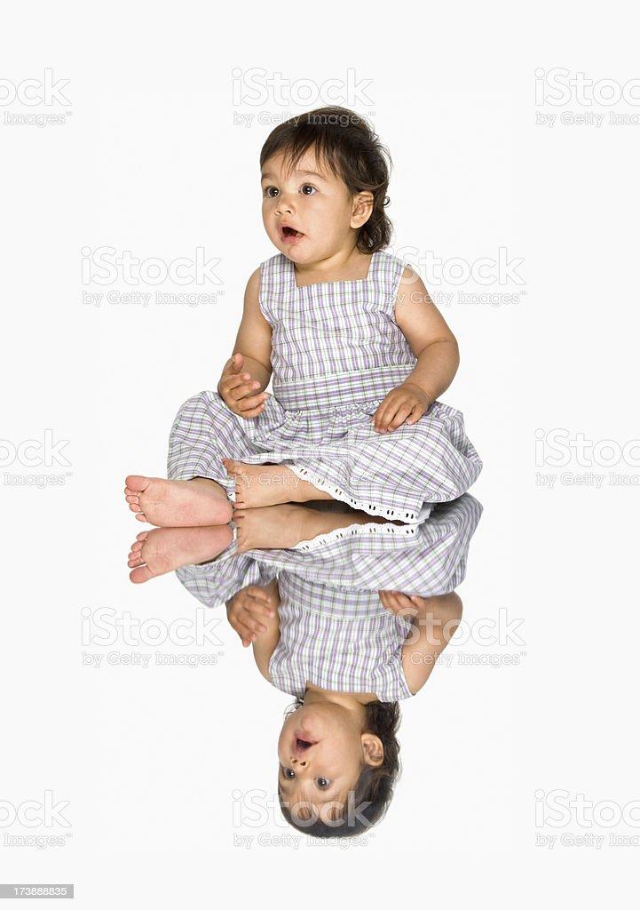 cute little baby stock photo