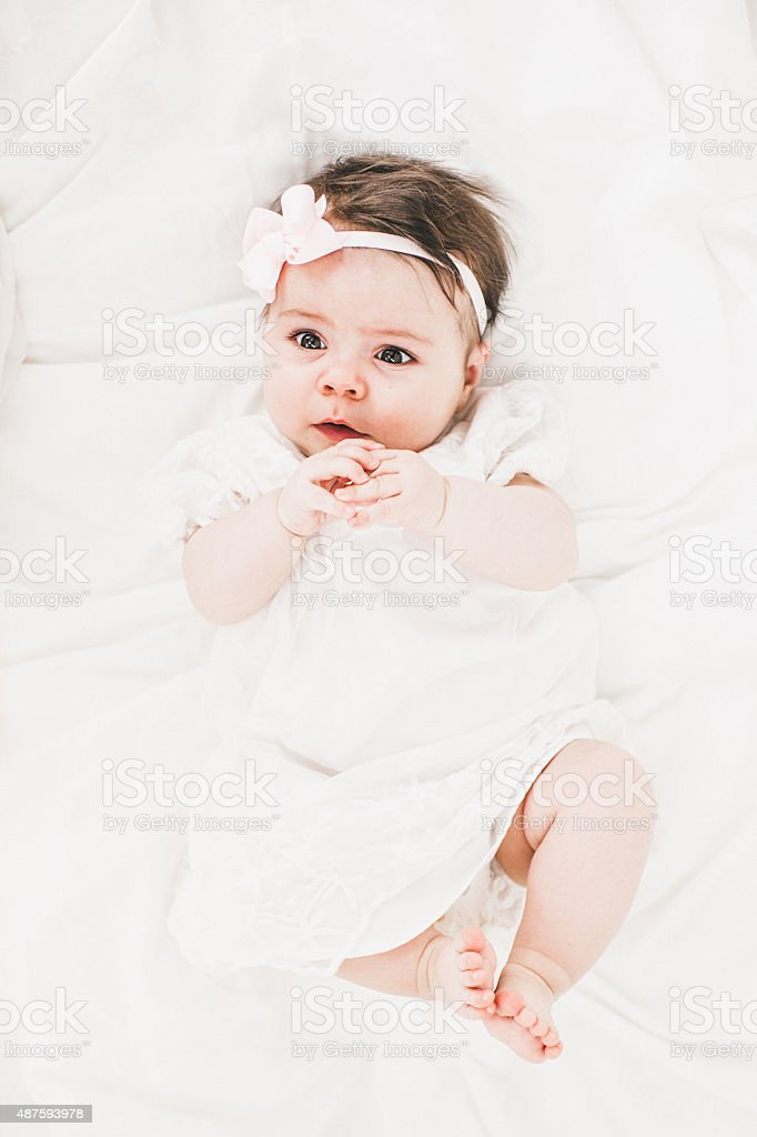 Cute little babygirl stock photo
