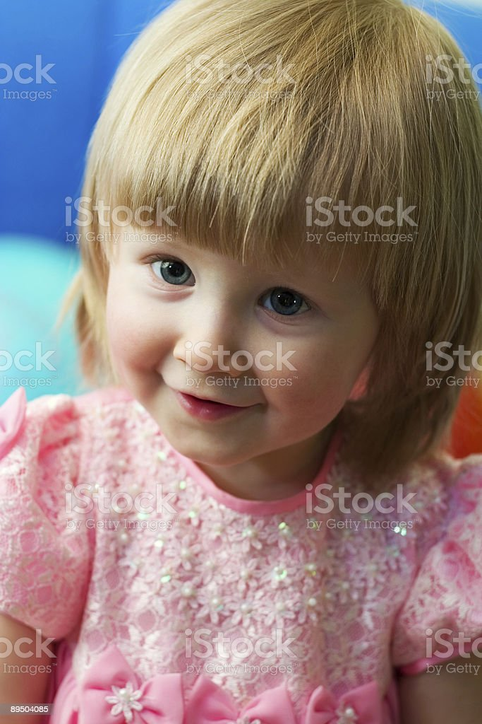 cute little blond royalty-free stock photo