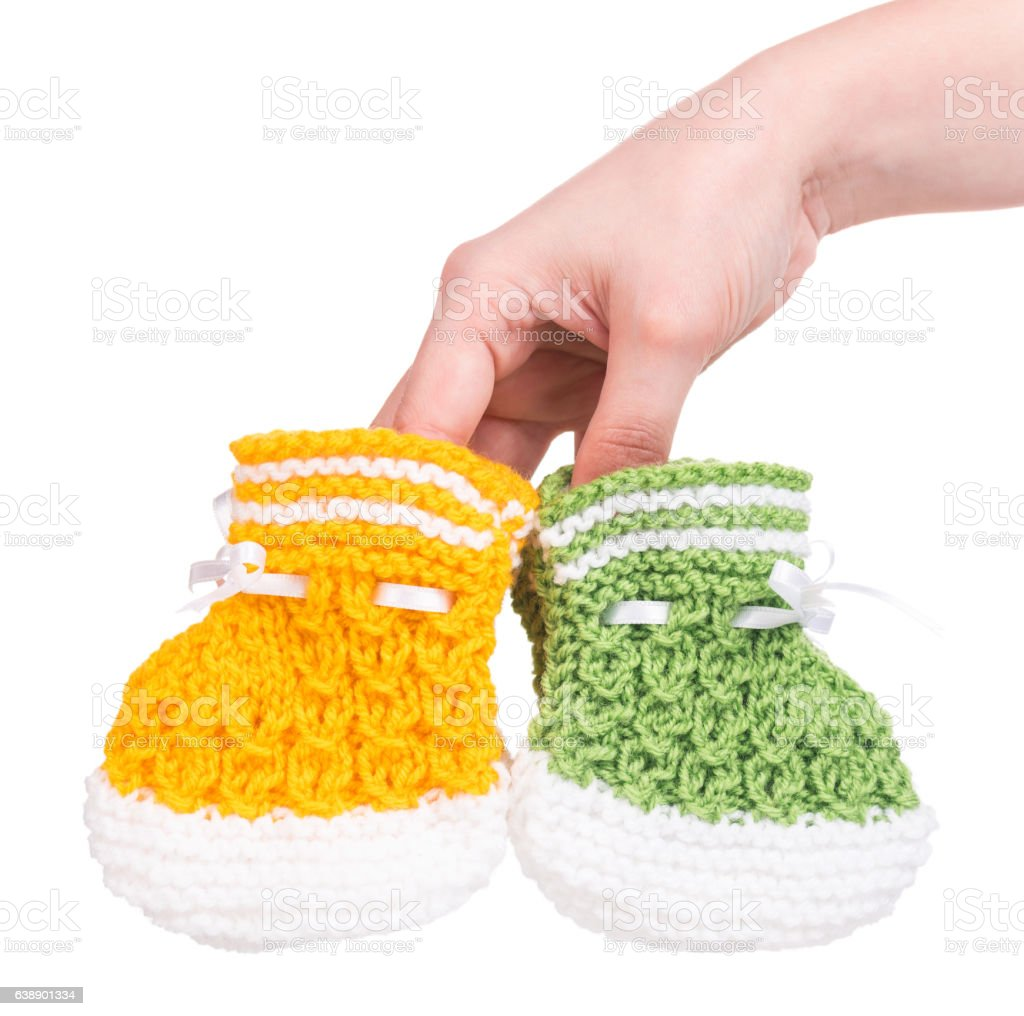 Cute little bootee stock photo