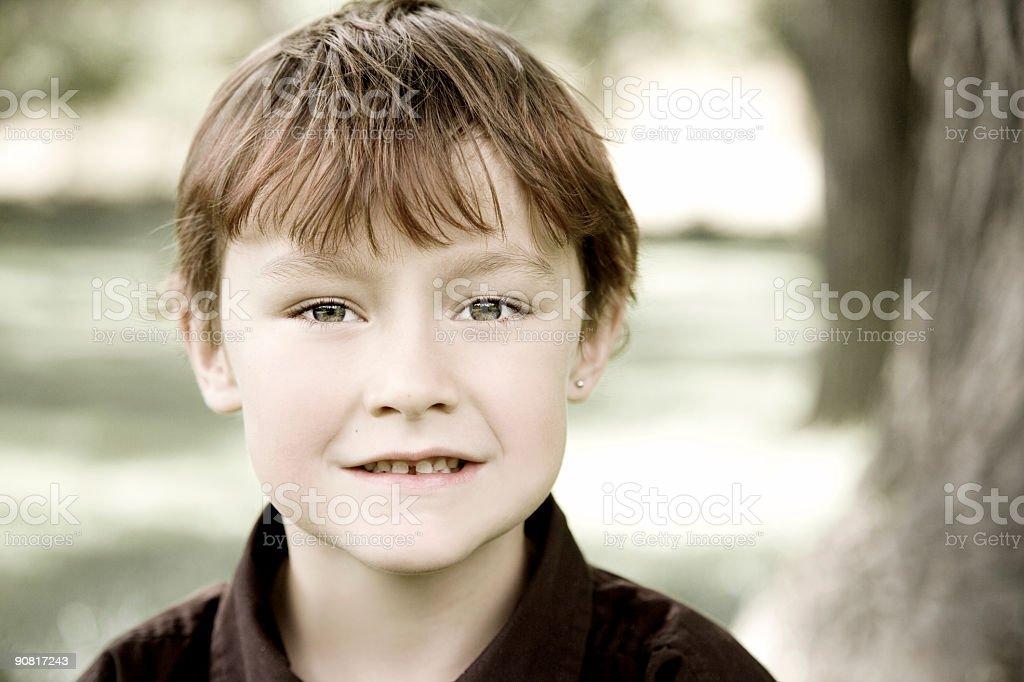 Cute Little Boy / Colorized stock photo