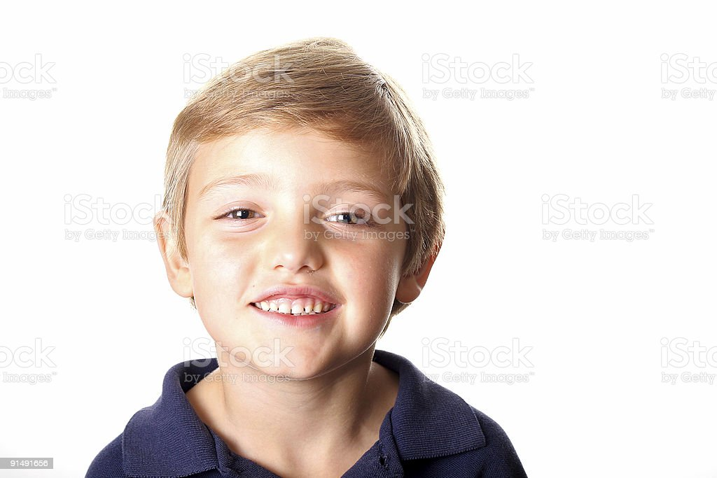 cute little boy headshot royalty-free stock photo