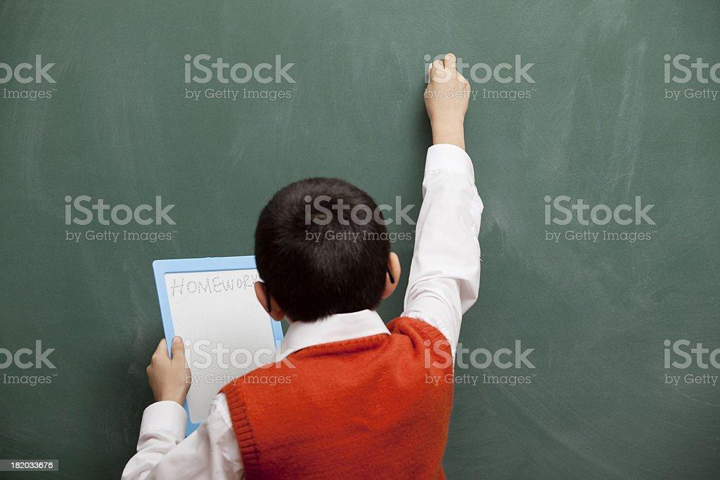 Cute little boy learning alpahebet royalty-free stock photo