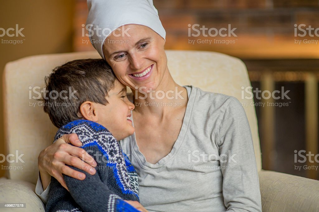 Cute Little Boy Making His Mother Laugh stock photo
