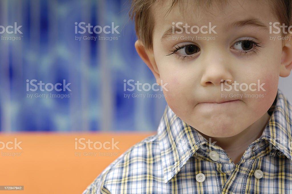 Cute little boy royalty-free stock photo