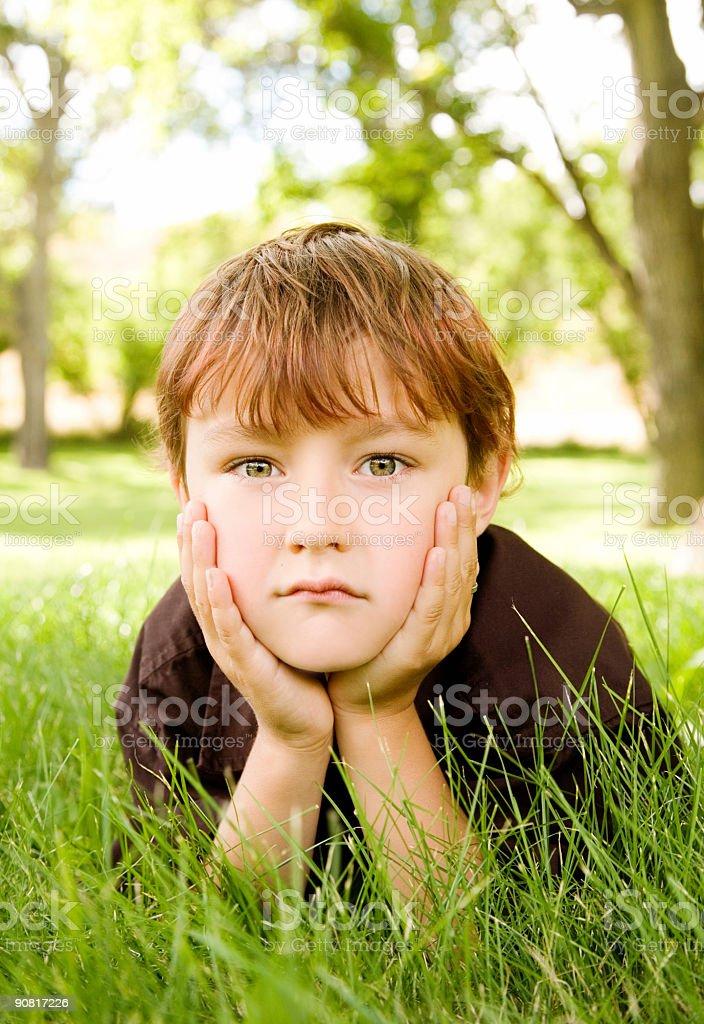 Cute Little Boy stock photo