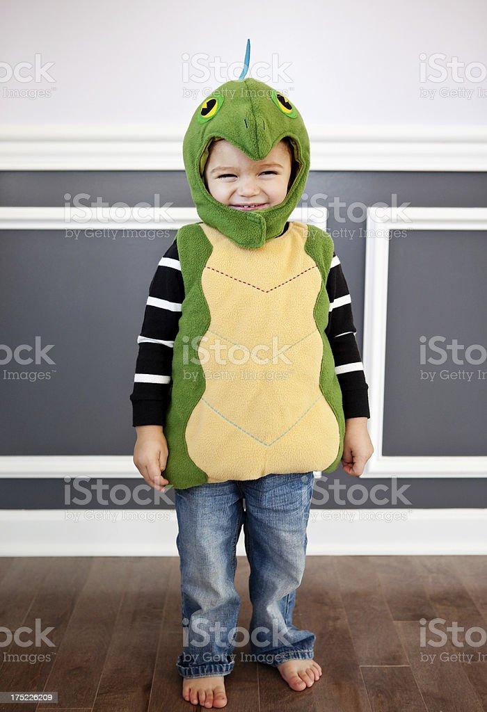 Cute Little Boy Wearing Costume stock photo