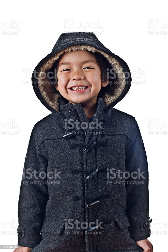 cute little boy with big smile royalty-free stock photo