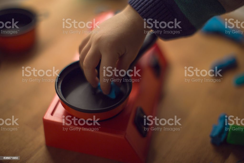 Cute little chef stock photo