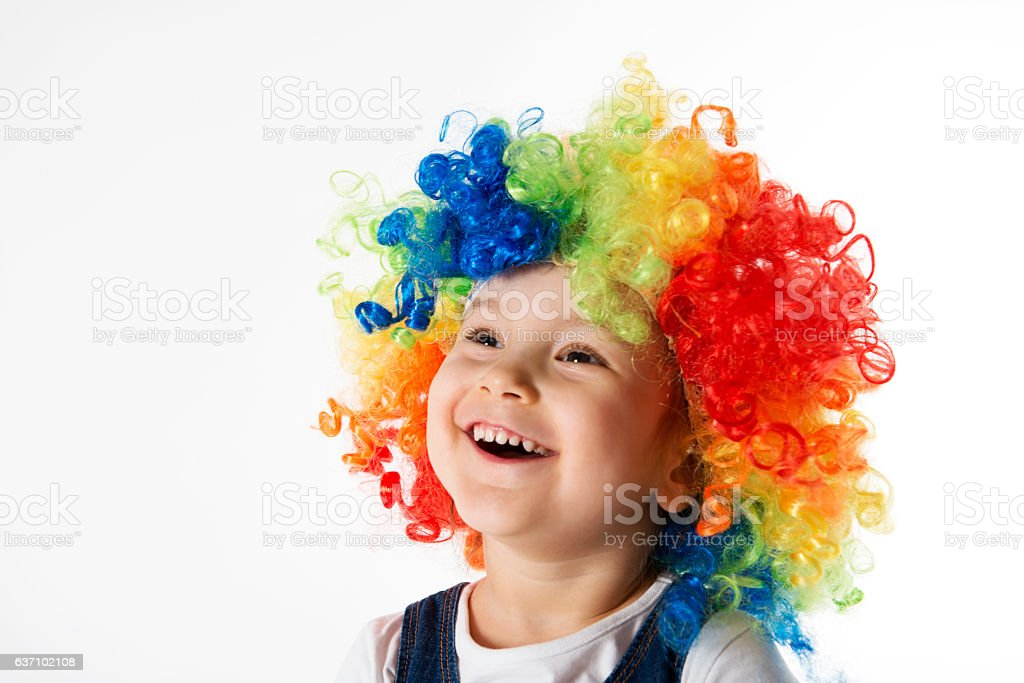 Cute Little Clown stock photo