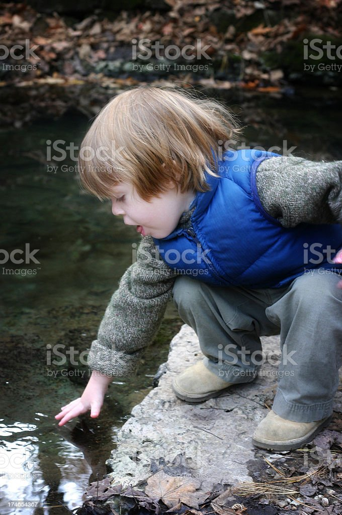 Cute Little Explorer royalty-free stock photo