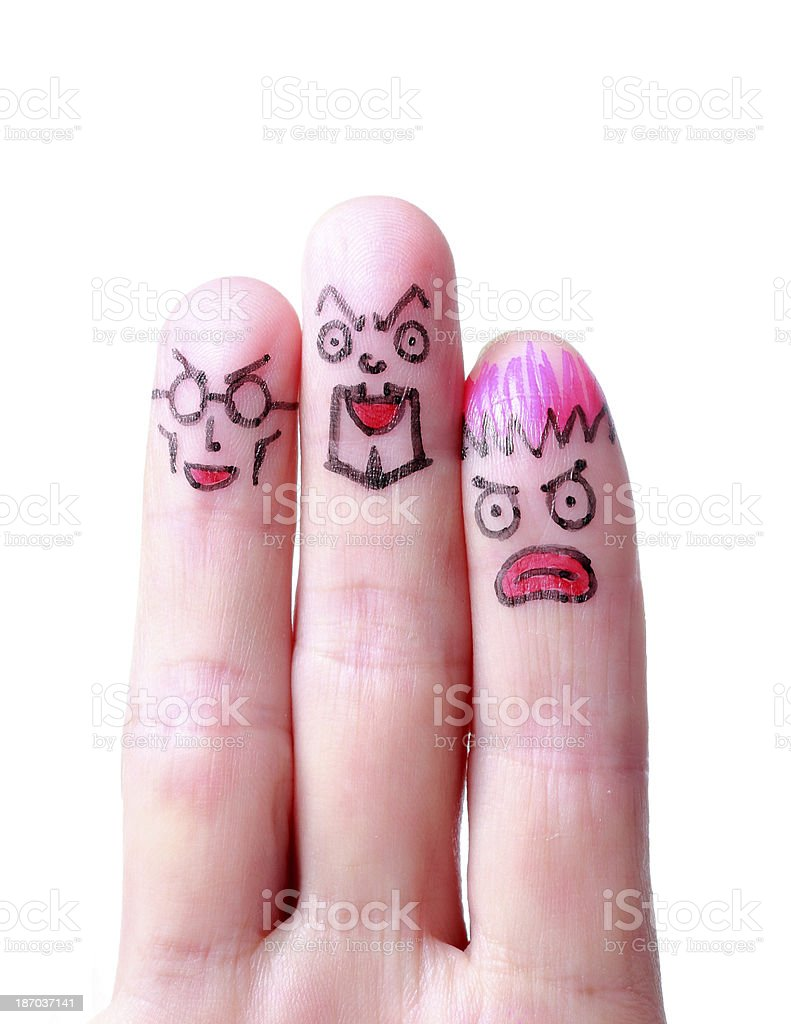 Cute little Finger Face royalty-free stock photo