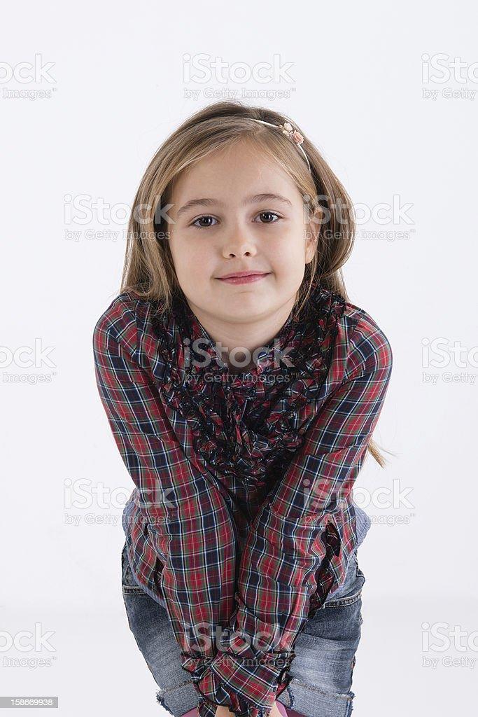 Cute little gir royalty-free stock photo