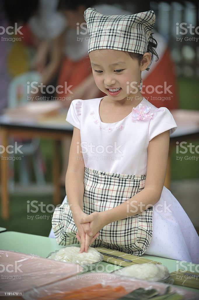 cute little girl Chef royalty-free stock photo