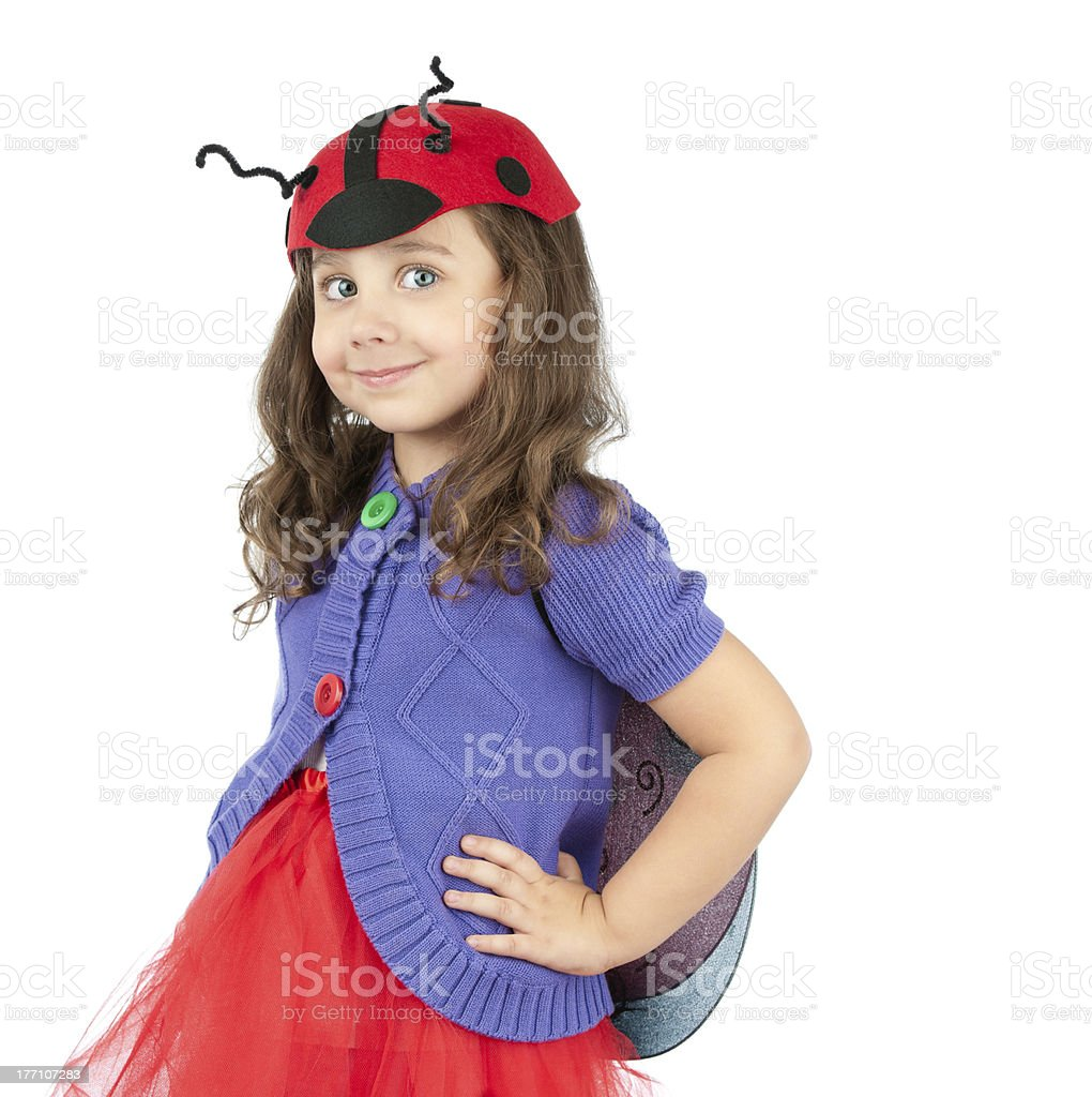 cute little girl in costume royalty-free stock photo