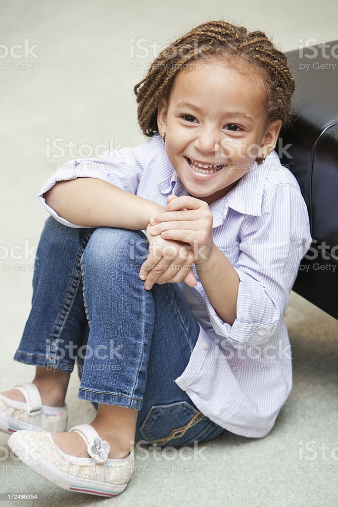 Cute little girl laughing stock photo